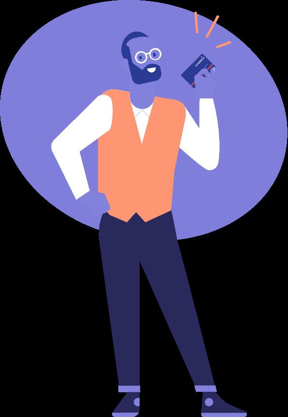 Illustration-junger-mann-mit-sodexo-card