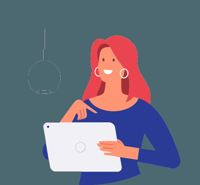 Illustration-frau-am-laptop