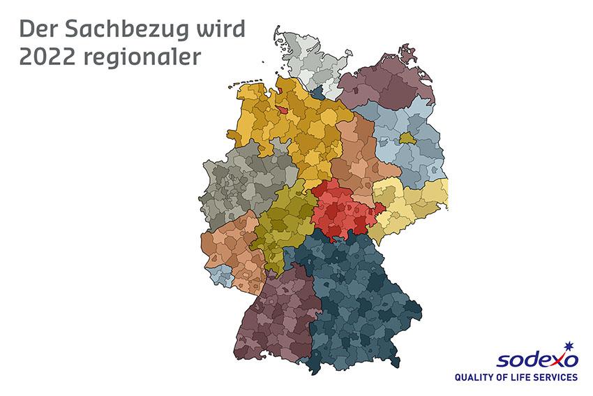 Deutschlandkarte mit Bundesländern und Landkreisen